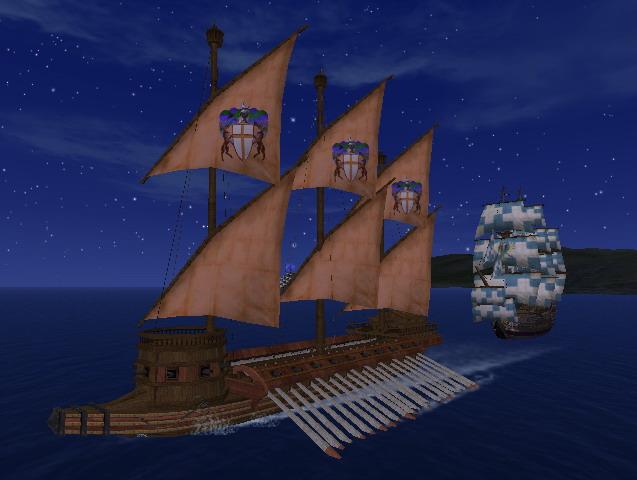騎士爵文章在船上