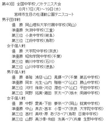 2009全中 in 宮崎