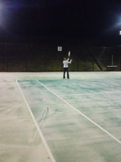 引佐総合運動公園テニスコートにて