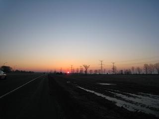 モントリオールの朝日