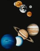 太陽系の惑星群