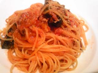 「シチリア風 茄子のトマトソーススパゲッティ」キャッキャラーレ ディ アルレッキーノ(福岡市)