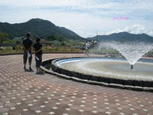 バラ園 噴水