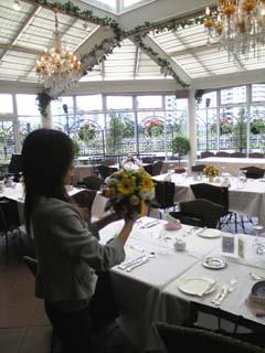 結婚式 テーブル花 青山