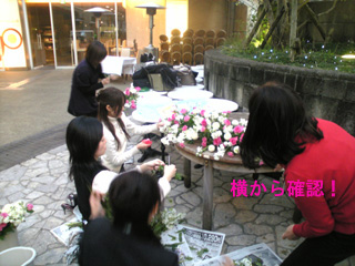 テーブル 花 ウェディング