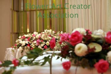 結婚式 会場装飾 フラワー 実習