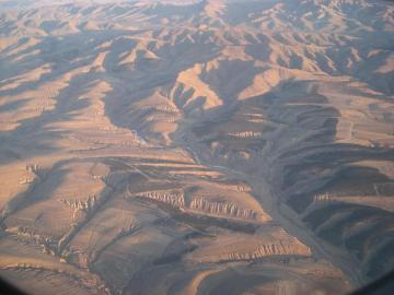 内モンゴルの飛行機からの画像