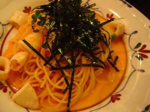 イカと明太子のスパゲティ