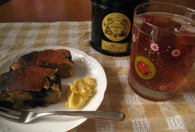ブルーベリーミルクカスタードケーキ