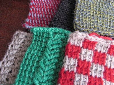 アフガン編みのモチーフ