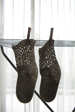 クロシェの靴下