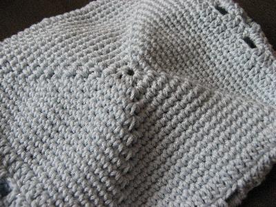 おもしろ編みの巾着
