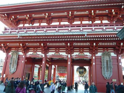 浅草 浅草寺 門の裏側