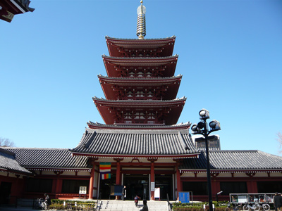浅草 浅草寺の五重塔