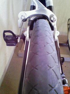 減ったタイヤ