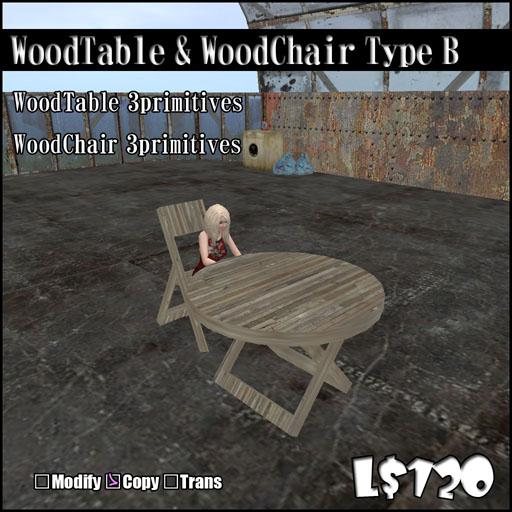 WoodTable  WoodChairType B