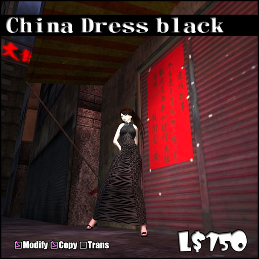 China Dress black