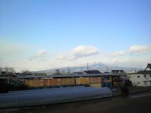 雪化粧の赤城山