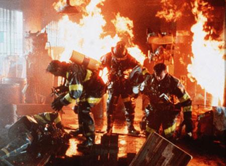 大迫力の火災現場