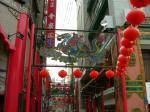 新地中華街北門 玄武がどこかに彫られてるはずですが…