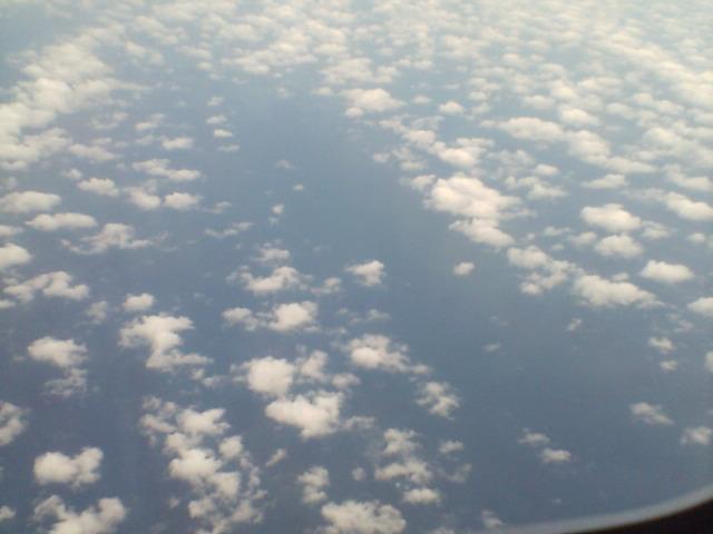 雲が下に見える♪