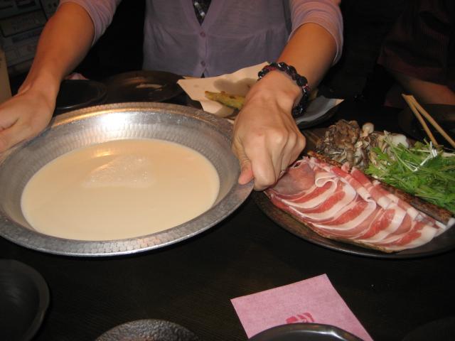 麦富士豚の豆乳しゃぶしゃぶ2