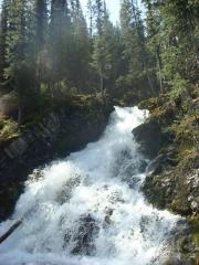 夏ロッキー_途中の滝