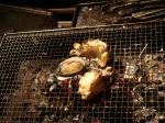 焼あわびと焼蟹