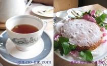 薔薇の紅茶とヴィクトリアンサンドウィッチ