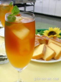 紅茶教室にて オレンジのセパレートティー