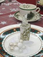 クリスマス柄の食器を使って