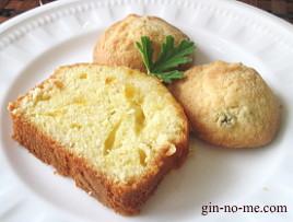 ローズゼラニゥムのクッキーとオレンジのパウンドケーキ