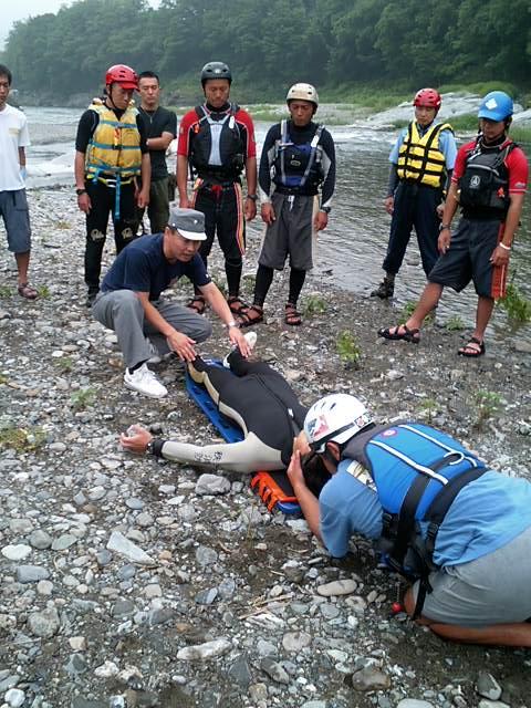 """水難事故訓練 : """"おぼれている人..."""