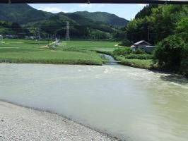 曽木川の水は引いてました