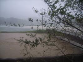 曽木川の氾濫