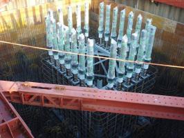 メタル橋脚の固定用ナット