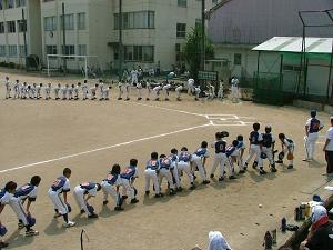 三塁側J'sチーム