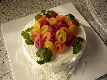 バラのケーキ (2)