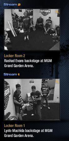 UFC98 控え室