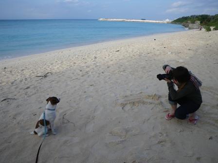 ニシ浜で写真を