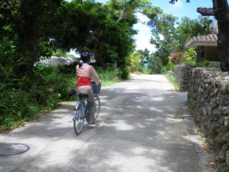 自転車に乗るわたし