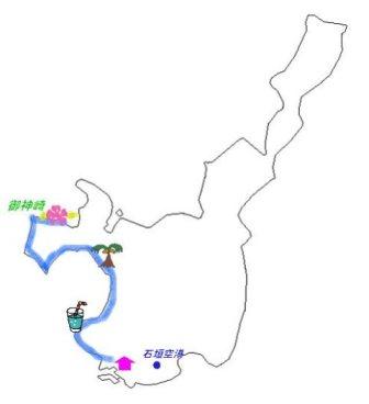 石垣島の地図