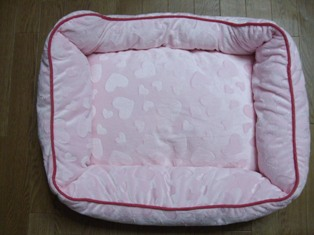 ハートのベッド