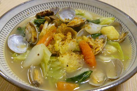 野菜たっぷりスパイシースープ