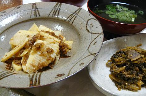 筍の土佐煮とセロリの佃煮