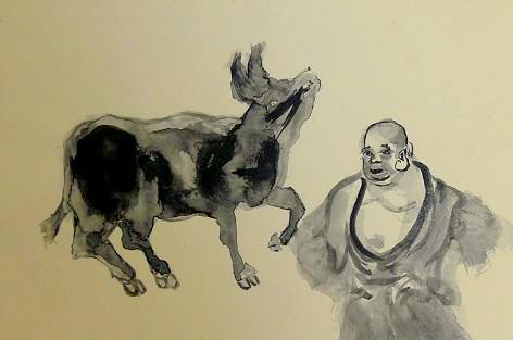 トマ爺の水墨画