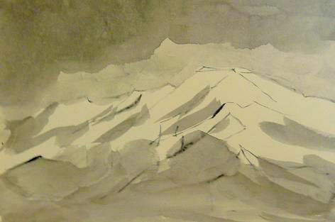 トマ爺 墨絵
