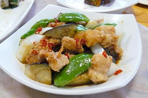 夏野菜と豚肉の南蛮ソース