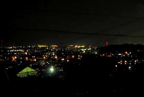 我が家からの夜景♪