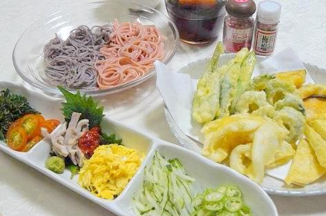 天ぷらと冷たい麺で♪
